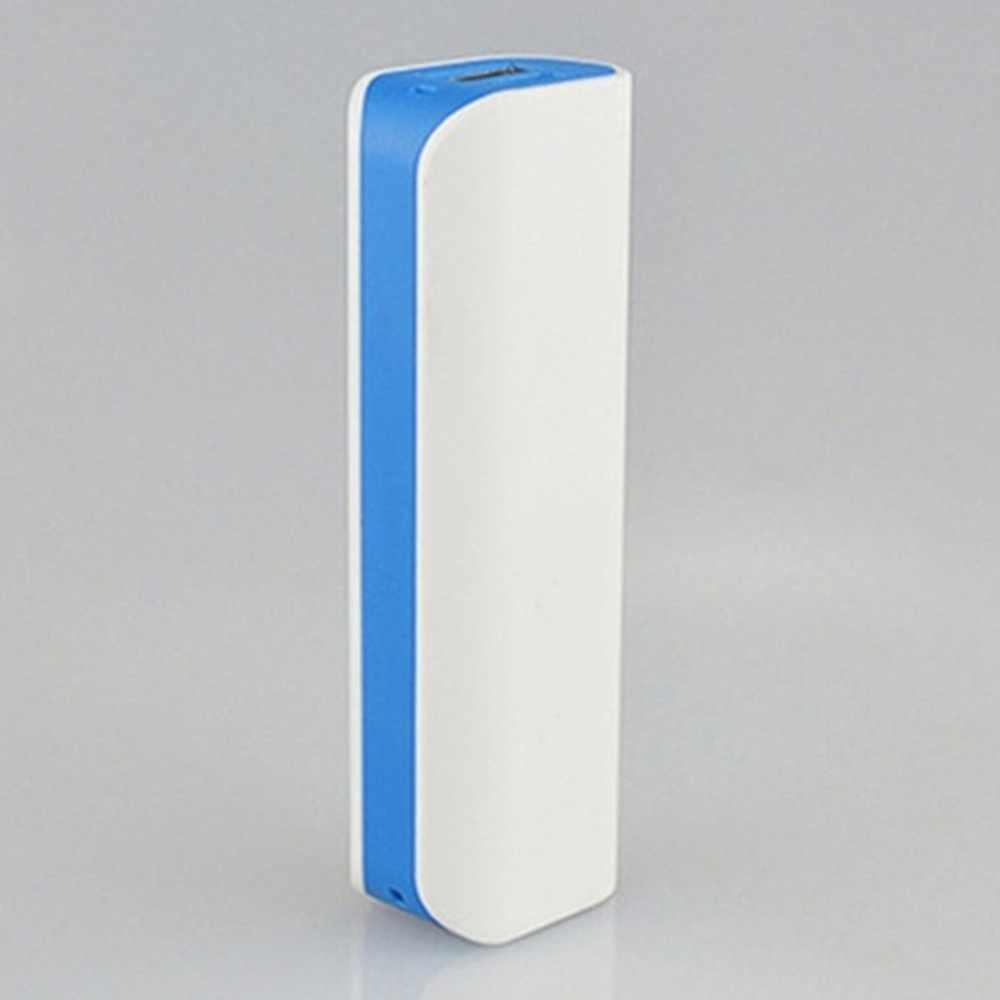 Carcasa de Banco de energía para soldar puertos USB funda de Banco de energía PCB cargador Kits de bricolaje alimentados por 2600mAh 18650 batería (no incluida)