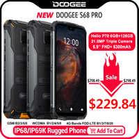 IP68 étanche DOOGEE S68 Pro téléphone robuste Helio P70 Octa Core 6GB 128GB sans fil Charge NFC 6300mAh 12V2A Charge 5.9 pouce FHD +