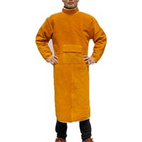 Split cattle leather welding protective clothing garment welder safety jacket durability heat and fire safety clothing