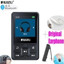 Новинка, оригинальный Bluetooth MP3-плеер RUIZU X55, 32 ГБ, мини-клипса с экраном, поддержкой FM, записи, электронной книги, шагомера, часов
