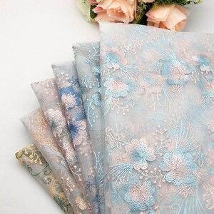 130cm x 100cm, tela de tul de gasa bordada de malla de encaje para bebé, falda de tutú de boda, vestido de fiesta para escenario, Material de tul DIY