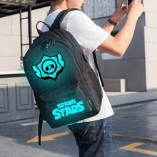 Brand Cool Luminous School Bags for Boys and Girls Backpack