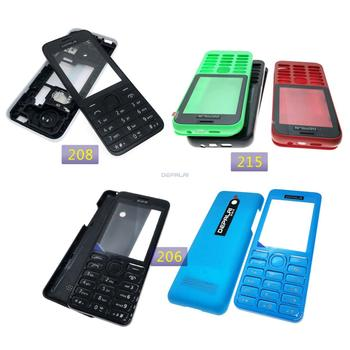 New High Quality Housing For Nokia 208 Dual SIM Card 2080 215 206 2060 Mobile Phone Cover Case Keypad image