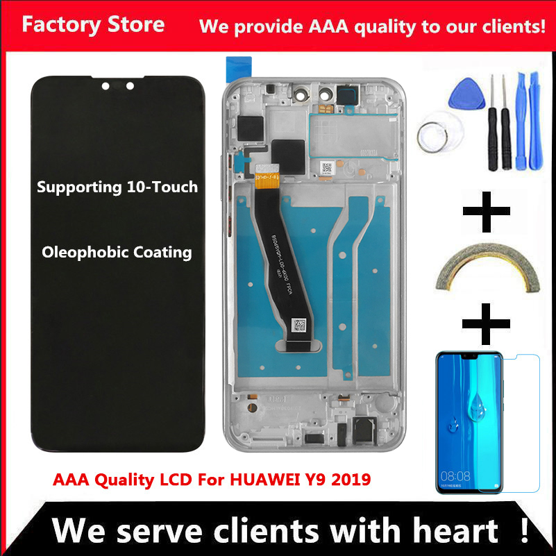 2340*1080 10-Touch Original LCD For HUAWEI Y9 2019 Lcd With Frame Display Screen For HUAWEI Y9 2019 Screen JKM-LX1 JKM-LX2 LX3