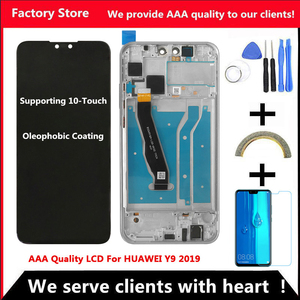 Image 1 - 2340*1080 10 Touch AAA LCD For HUAWEI Y9 2019 Lcd With Frame Display Screen For HUAWEI Y9 2019 Screen JKM LX1 JKM LX2 LX3