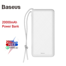 Baseus 20000mah Power bank Fast Charger Outdoor Phone Charger Usb/iP/Micro/Usb-C Port Power Bank For iPhone Xs Max Xr X Plus