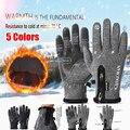Зимние теплые перчатки унисекс для рыбалки с сенсорным экраном водонепроницаемые лыжные осенние дышащие спортивные ветрозащитные Несколь...