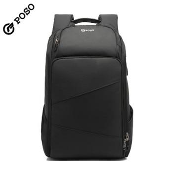 POSO Backpack 17.3inch USB Large Capacity  Anti-theft  Laptop Backpack Nylon Waterproof Fashion Business Travel Sports Backpack poso backpack 17 3inch laptop backpack waterproof backpack backpack men s backpack anti theft backpack,