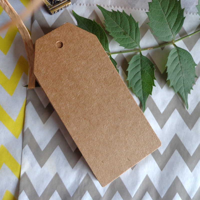 500 pièces en gros 4.5x9.5cm carton blanc prix étiquette volante rétro bricolage Kraft papier cartes étiquette cadeau