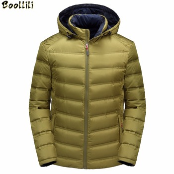 Winter 90% White Duck Down Jackets Men Brand Clothing Men Fashion Winter Warm Coats Outerwear Warm Parka