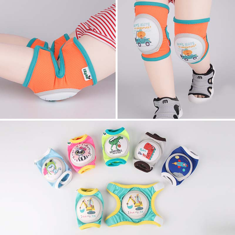 Cartoon Baby Sport Knee Pad Kids Safety Crawling Elbow Cushion Infant Toddlers Safe Leg Warmers Knee Support Protector Kneecap
