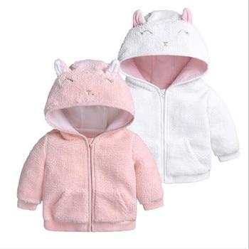 цена на Winter Baby Coat 2019 Newborn Infant Baby Boy Girls Hooded Jacket Children Kids Fleece Outerwear Warm Winter Baby Clothes 3M-18M