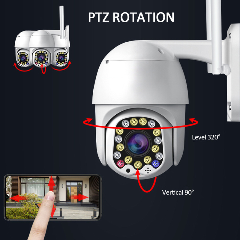Wireless Wifi IP Camera HD 1080P Camera Waterproof 320 Rotation PTZ Security Camera Wireless WiFi Network CCTV Surveillance