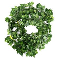 12 x artificial plants of vine false flowers ivy hanging garland for the wedding party Home Bar Garden Wall decoration Outdoor