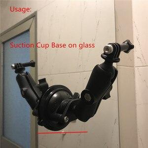 Image 2 - Jadkinsta Diameter 80mm Base Car Window Twist Lock Suction Cup to 1 inch Ball Mount for Gopro Camera Smartphone