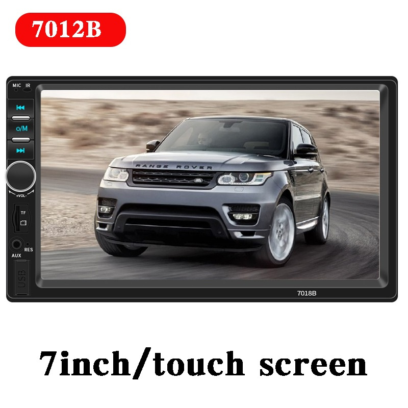 LAMJAD 2Din General Car Radio 7'' LCD Touch Screen Stereo MP5 Player USB FM Bluetooth Audio Support Rear View Camera 7018B image