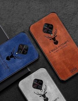 Перейти на Алиэкспресс и купить Ретро ткань текстура мягкий чехол для телефона для Vivo V17 ЧЕХОЛ ДЛЯ VIVO S1 Pro SD665 Y9S 6,38 дюйма задний Чехол