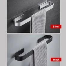 Держатель для полотенец для ванной комнаты из алюминиевого сплава 25-45 см, Черный Масляный матовый фиксированный держатель для полотенец, по...