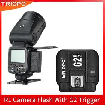 Triopo R1 Camera Flash Speedlite 2.4G X Wireless TTL HSS Round Head Speedlight Flash With G2 Trigger for Canon Nikon VS V1C
