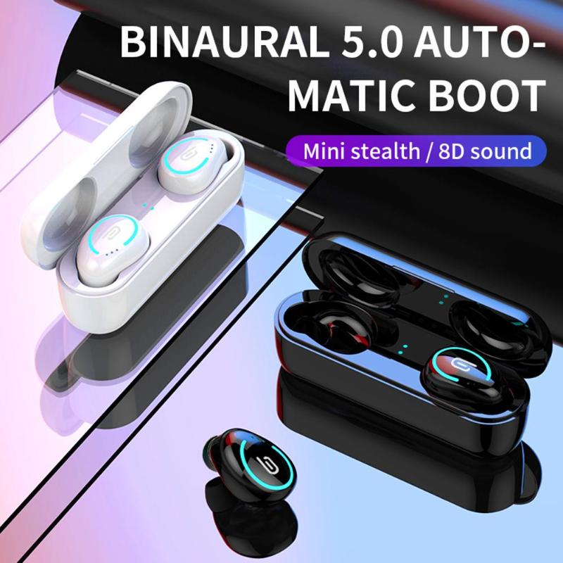 Durable Earphones Wear-resistant <font><b>I8</b></font> <font><b>TWS</b></font> Wireless <font><b>Bluetooth</b></font> 5.0 Binaural In-ear Earbuds Headset with Charging Box image