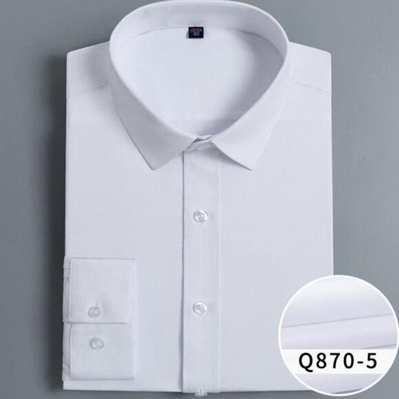 Printemps automne offre spéciale hommes à manches longues chemises décontractées Camisa, respirant confortable solide couleur bonbon bambou Fiber chemises tissu