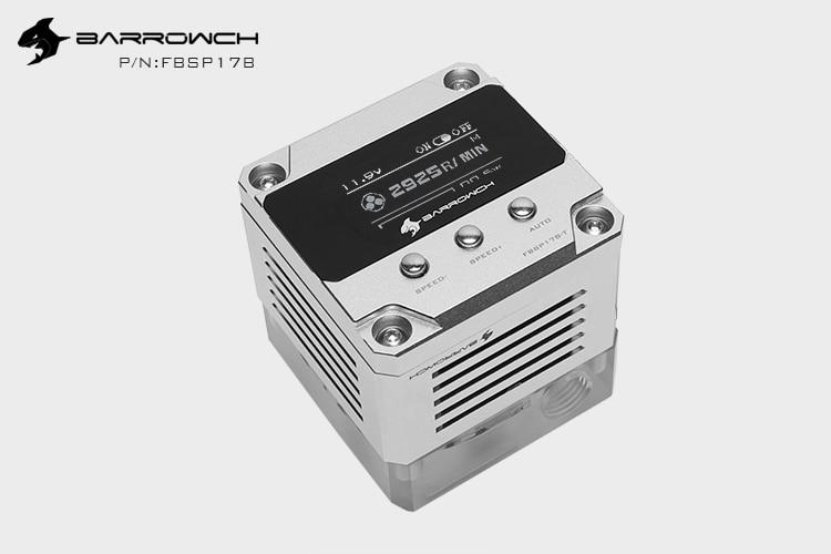 Barrowch FBSP17B, 17 Вт PWM интеллектуальный насос, OLED цифровой дисплей, DDC серия, ручной и ШИМ контроль скорости водяного Охлаждения Насос - Цвет лезвия: Silver