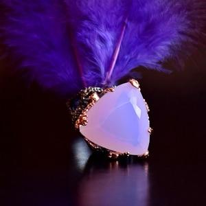 Image 4 - دريم كرنفال 1989 خواتم قوطية جديدة للسيدات مثلث راديان مقصوصة الزركونيوم الوردي مجوهرات أنيقة مبهرة حفلة يجب أن يكون WA11691
