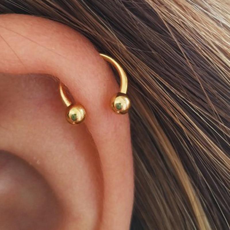 3pcs Stainless Steel Nose Hoop Ring Septum Lip Studs Cartilage Earrings Circular Tragus Ear Piercing Horseshoe Body Jewelry 16G
