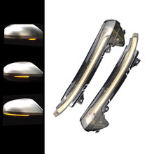 цена на 2PCS Car Side Wing Rearview Mirror Indicator Lamp LED Dynamic Turn Signal Blinker Light For Audi A6 C7 C7.5 RS6 S6 4G 2013-2018