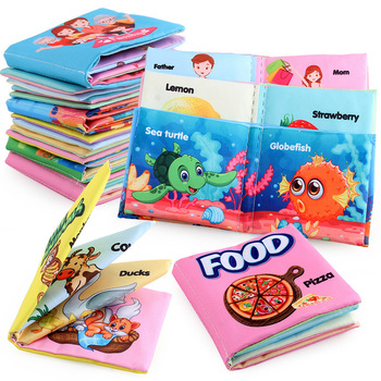 1pc Cloth Books Soft Baby Books Rustle Sound Baby Quiet Books Infant Early Learning Educational Toys 0 -12 Months Tear-proof