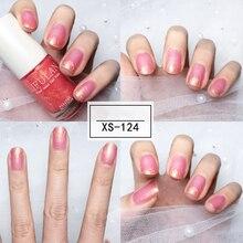 Nusx 17 couleur s nouveau vernis à ongles couleur bonbon séchage rapide translucide gelée vernis à ongles Protection de l'environnement Unpeelable PO002