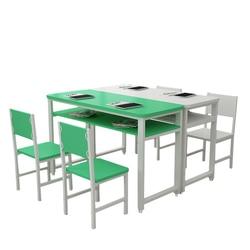 Klasy szkoleniowe biurka i krzesła studenci kolor pojedynczy podwójny stolik biurkowy samouczek klasa Art stół podwójny      -
