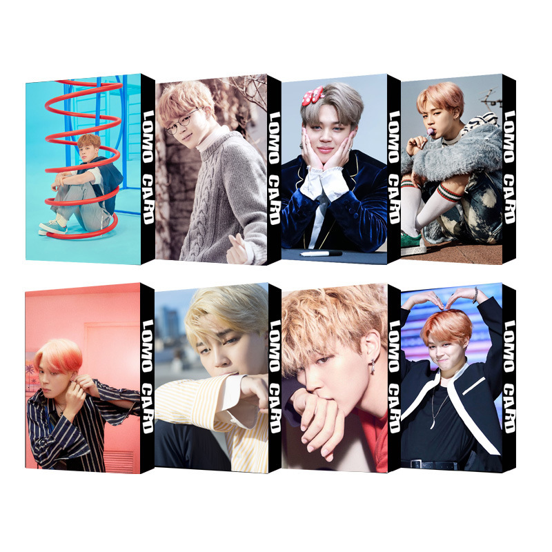 30pcs/set Fashion Kpop Jimin Single Photocard High Quality HD Bangtan Boys Lomo Card Album Photocard Bangtan Boys Kpop