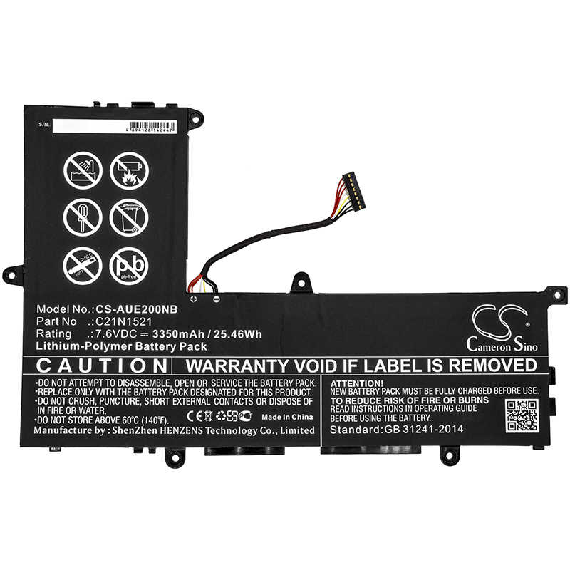 Batería actualizada para Asus VivoBook E200HA, VivoBook E200HA-1A, VivoBook E200HA-1B