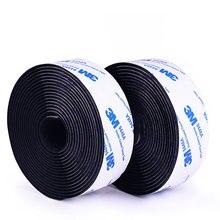 Velcros – ruban de fixation auto-adhésif à crochets et boucles, 1M, autocollant en Nylon avec 3M de colle, ruban magique pour bricolage 16/20/25/30/50mm