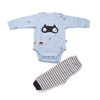 Best Selling Baby Girl Boy Romper Fashionable Clothes Trousers Set Spring Cotton Cute Newborn Unisex