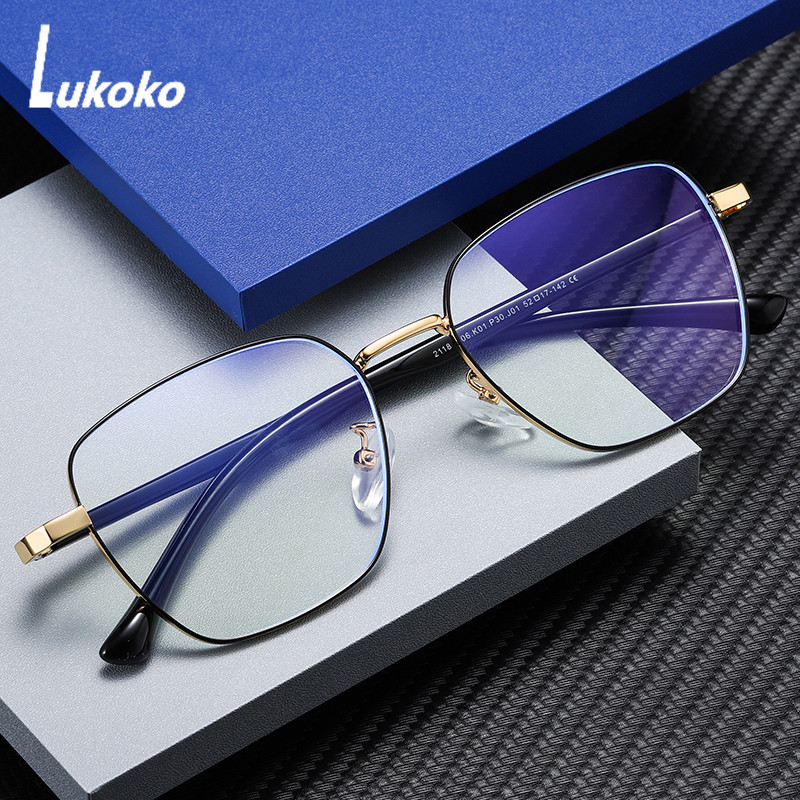 LUKOKO Anti Blue Light Radiation Glasses Computer Gaming Glasses Men Women  Blocker Blocking Ray Goggles Lentes Para Computadora