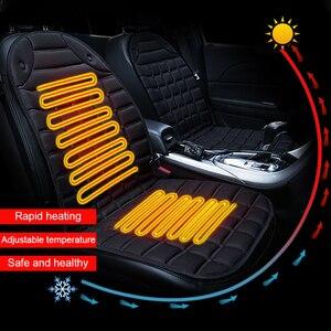 Image 3 - 12V 가열 된 자동차 좌석 쿠션 커버 좌석 겨울 좌석 커버 따뜻한 난방 난방 좌석 쿠션 세트 주택 사무실에 대 한 액세서리