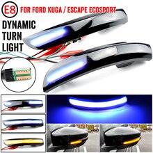 Fließende Wasser Blinker Licht Bicolor LED Dynamische Blinker Blinker Licht Für Ford Kuga Escape EcoSport 2013 2014 2015 2018
