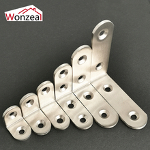 Thickness 2.5mm/3mm Practical Stainless Steel Corner Brackets L Shape Joint Fastening Angle Brackets For Furniture Home 1 PCS