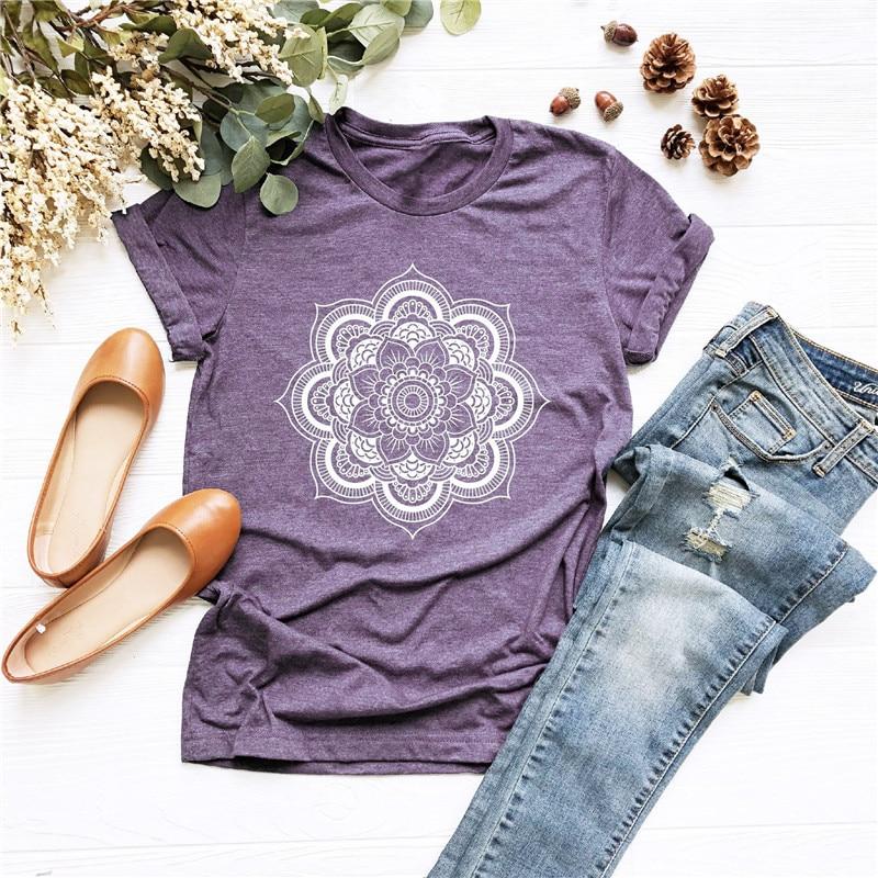 Women Floral Print Short Sleeve Tee Shirts Summer O Neck Casual Tshirts 2020 New Fashion Plus Size 5XL T Shirt Tops Tees Mujer 1