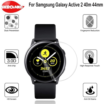 Banda de reloj Protector de pantalla HD película protectora para Samsung Galaxy Watch Active 2 44mm R820 40MM R830 suave Protector de pantalla completa