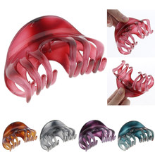 Large Crystal Hair Claw Banana Clips Hair Stying Tool for Women,Pack of Two(China)