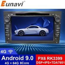 Eunavi 2 Din Android 9 Car DVD Radio Player For Opel Astra Vectra Antara Zafira Corsa 2din GPS Wifi Bluetooth Octa Core 1024*600
