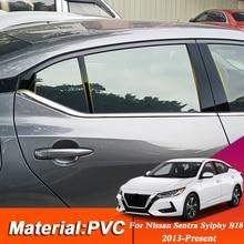 Araba Styling pencere Trim Nissan Sentra Sylphy B18 2013 Present PVC cam pencere garnitür ayağı orta etiket dekorasyon filmi