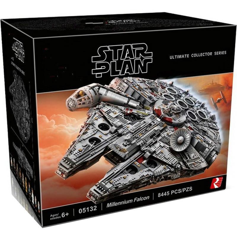 Lepinblock In Stock 05132 New Millenniums 8445pcs 75192 Star wars Falcones Series Ultimate Collectors Model Building Bricks Toys