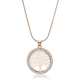 Gold Tree of Life Jewelry Sets Necklace Earrings Bracelets Necklaces Metal Color: SE200041ROGD