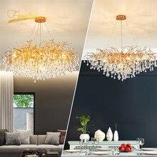 цена Nordic Luxury Crystal LED Chandelier Lighting Dimming LOFT Villa Lustre Water Drop Living Room Decoration Hotel Hall Home Decor онлайн в 2017 году