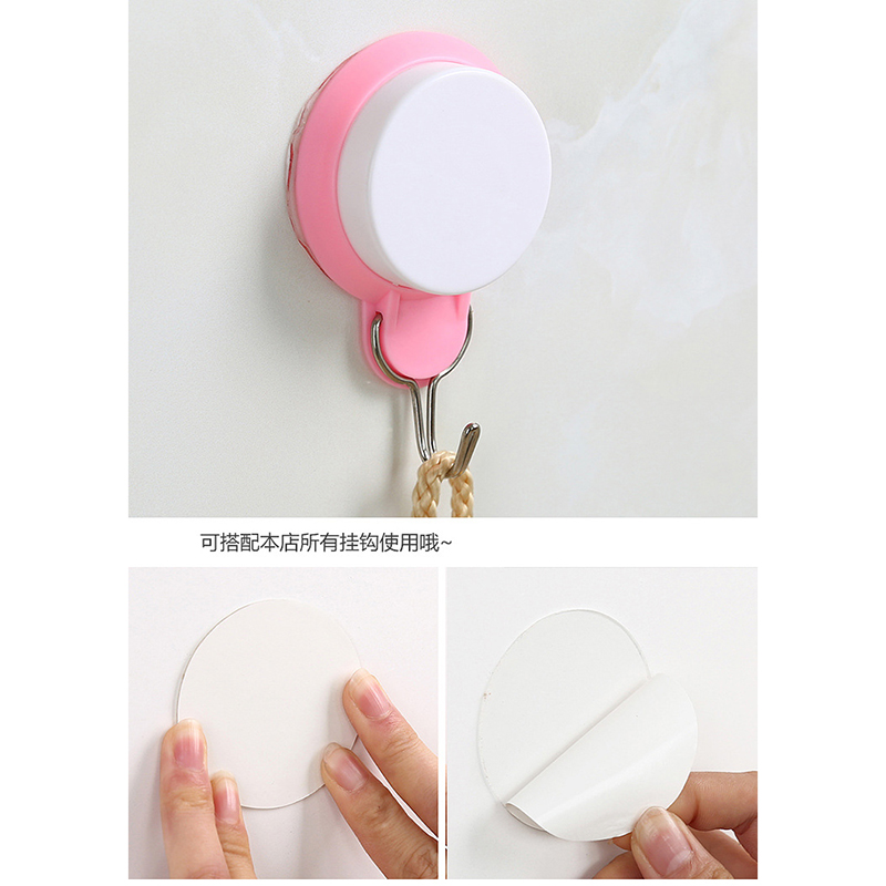 20 pcs 6cm home decoration magic sticker double-sided tape bathroom kitchen hook suction tile Diy decoration fixed reusable