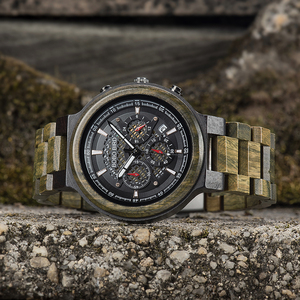 Image 4 - BOBO BIRD Men Watches Personalized Wood Watch Male for Him Handmade Lightweight Chronograph Date Causal relojes military
